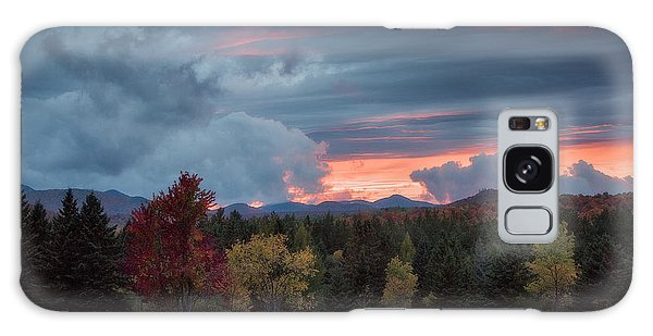Adirondack Loj Road Sunset Galaxy Case