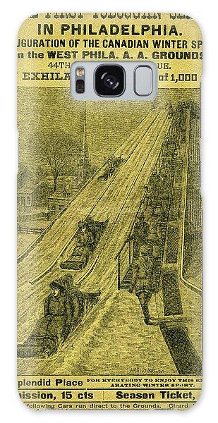 Advertisement For The First Toboggan Slide In Philadelphia Galaxy Case