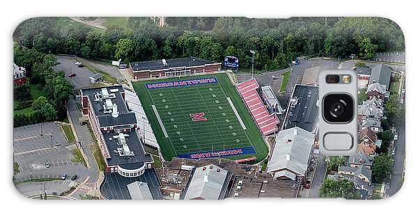 Galaxy Case featuring the photograph Aerial Of Mhs Football Field And School by Dan Friend