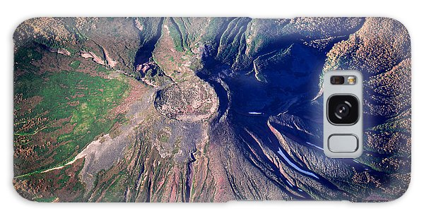 No People Galaxy Case - Aerial Shot One Of Volcanoes In by Makushin Alexey