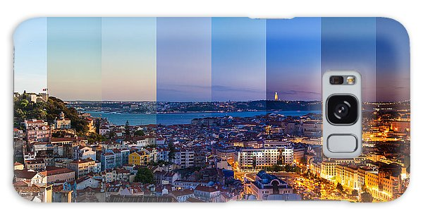 Dawn Galaxy Case - Aerial View Montage Of Lisbon Rooftop by Samuel Borges Photography