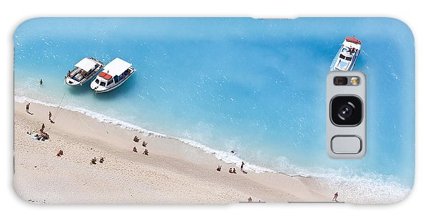 Scenery Galaxy Case - Aerial View Of A Beach With Some by Creativemarc