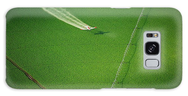 Center Galaxy Case - Aerial View Of A Crop Duster Spraying A by B Brown