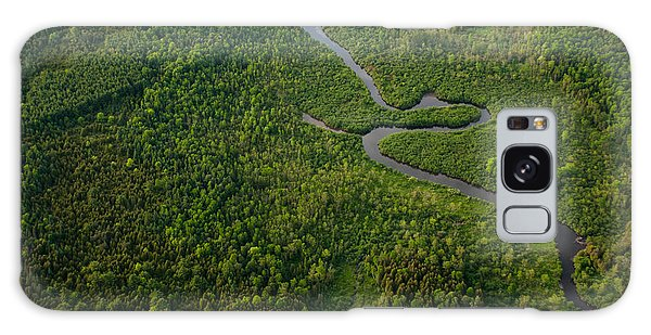 Horizontal Galaxy Case - Aerial View Of A Winding River by Graham Taylor Photography