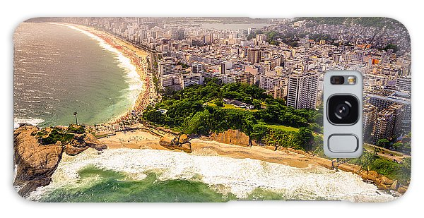 No People Galaxy Case - Aerial View Of Buildings On The Beach by Celso Diniz