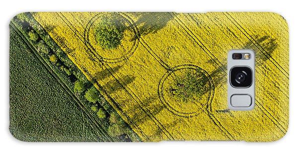 Plane Galaxy Case - Aerial View Of Harvest Fields In Poland by Mariusz Szczygiel