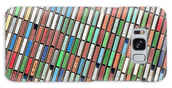 Shipping Galaxy Case - Aerial View Of Huge Area With Stacked by Oliver Hoffmann