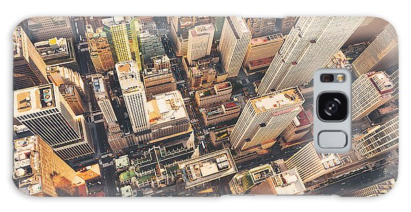 United States Galaxy Case - Aerial View Of Midtown Manhattan At by Tierneymj