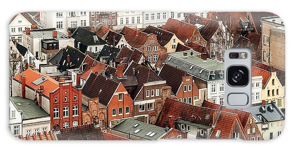 Brick House Galaxy Case - Aerial View Of Old German Town Of Lubeck by Boris Stroujko