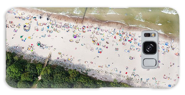 Seashore Galaxy Case - Aerial View Of Sandy Polish Beach On by Mariusz Szczygiel