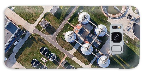 Plane Galaxy Case - Aerial View Of Sewage Treatment Plant by Mariusz Szczygiel