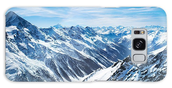 Plane Galaxy Case - Aerial View Of The Alps Mountains In by Famveld
