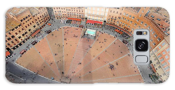 Angle Galaxy Case - Aerial View Of The Piazza Del Campo by Mihai-bogdan Lazar