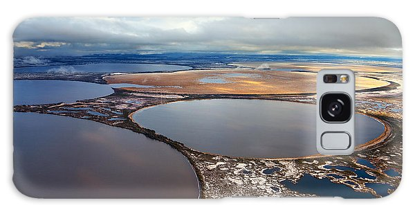 Ecology Galaxy Case - Aerial View Of The Some Round Lakes On by Vladimir Melnikov