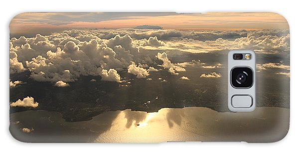 Dusk Galaxy Case - Aerial View Sunset Over Antigua In The by Achim Baque