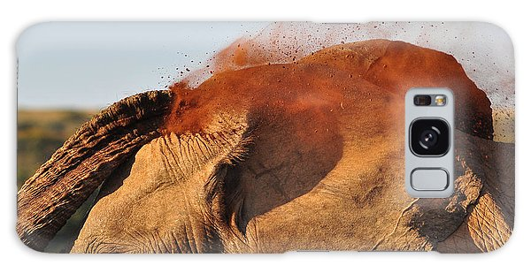 National Park Galaxy Case - African Elephant Throwing Dust Around by Michael Potter11
