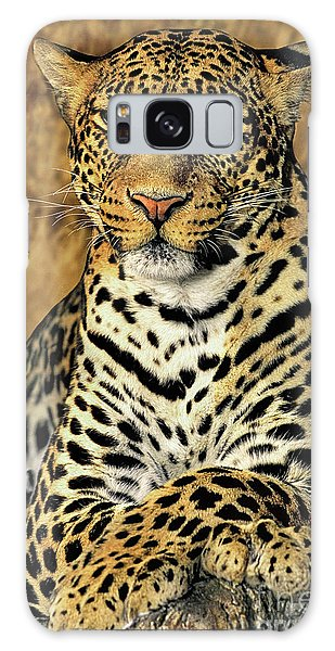 African Leopard Portrait Wildlife Rescue Galaxy Case