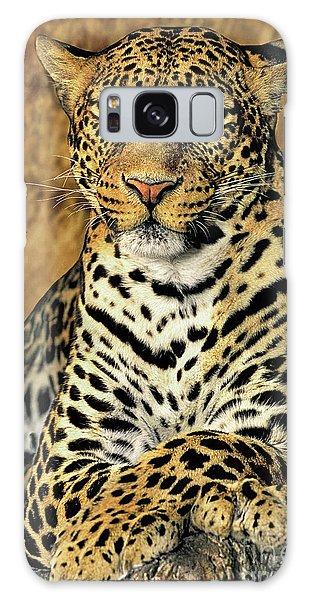 African Leopard Portrait Wildlife Rescue Galaxy Case