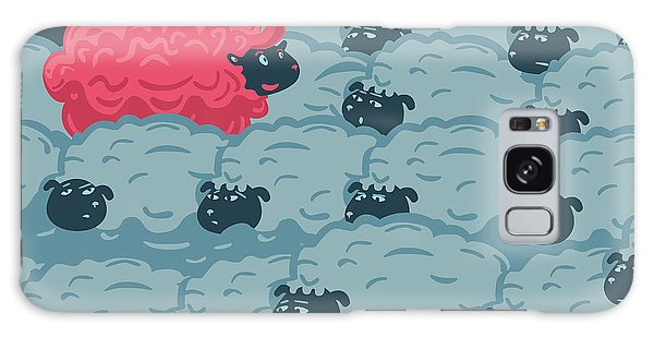 Horizontal Galaxy Case - Against The Crowd. One Pink Sheep In by Ne2pi