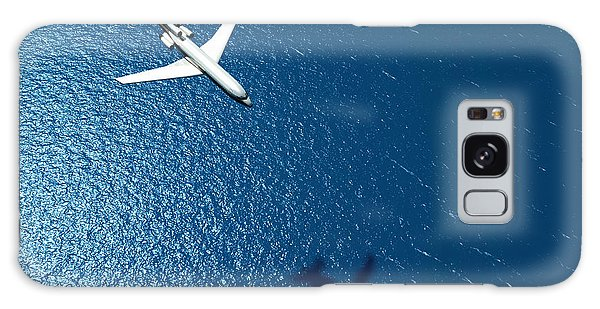 Environments Galaxy Case - Airplane Flies Over A Sea by Photobank Gallery