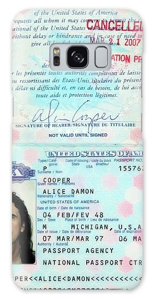 Alice Cooper Galaxy Case - Alice Cooper Passport 1997 by Daniel Hagerman