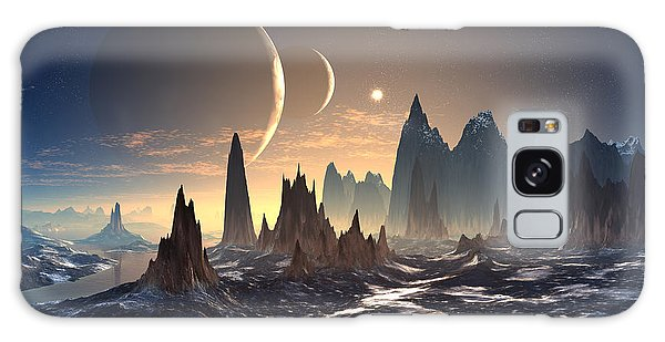 Outer Space Galaxy Case - Alien Planet With Two Moons by Diversepixel