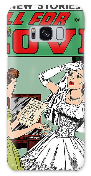 Galaxy Case featuring the digital art All For Love Distraught Bride by Joy McKenzie