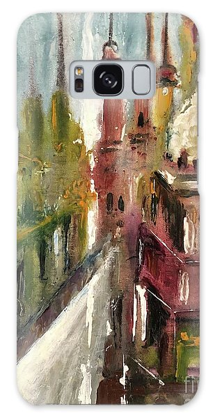 Galaxy Case featuring the painting Mosque  by Nizar MacNojia