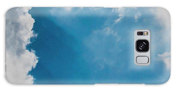 Colours. Blue. Alone. Galaxy Case
