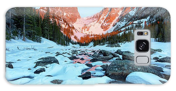 Alpenglow At Dream Lake Rocky Mountain National Park Galaxy Case