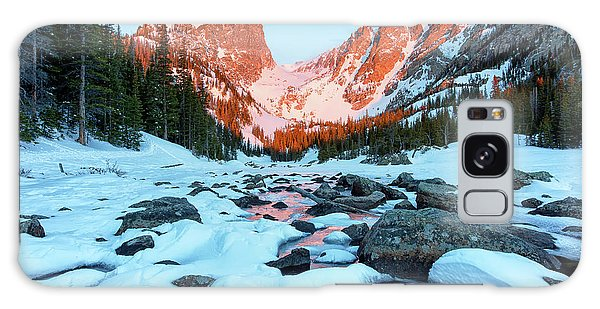 Galaxy Case featuring the photograph Alpenglow At Dream Lake Rocky Mountain National Park by Nathan Bush