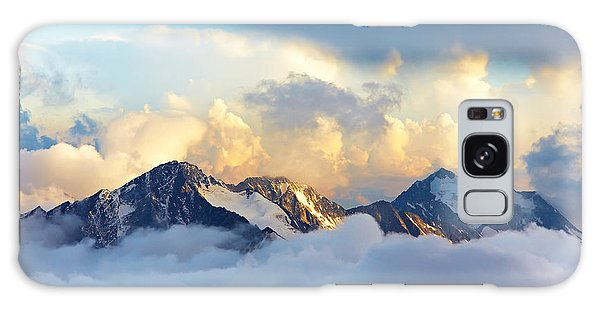 Scenery Galaxy Case - Alpine Landscape With Peaks Covered By by Evgeny Bakharev