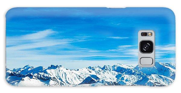 Travel Destinations Galaxy Case - Alps Mountain Landscape. Winter by Ewa Studio