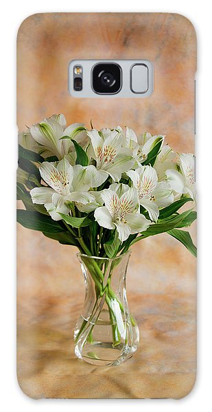 Alstroemeria Bouquet On Canvas Galaxy Case