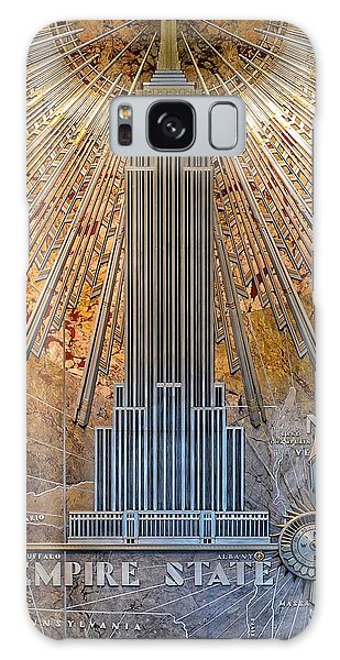 Aluminum Relief Inside The Empire State Building - New York Galaxy Case