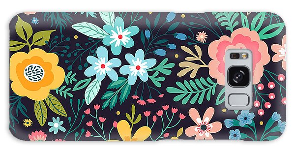 Wrap Galaxy Case - Amazing Floral Pattern With Bright by Ann.and.pen