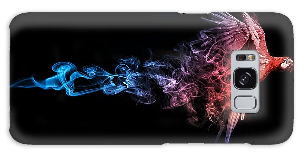 Macaw Galaxy Case - Amazing Image Of A Flying Macaw Parrot by Effect Of Darkness