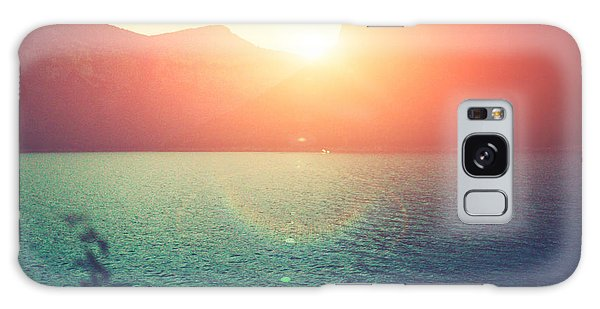 Bright Colors Galaxy Case - Amazing Silhouette Of Mountains At by Gaudilab