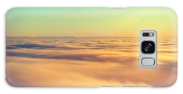 Cloudscape Galaxy Case - Amazing View From Plane On The Orange by Beautiful Landscape