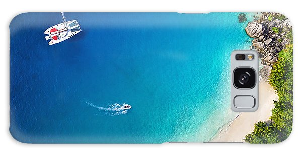Success Galaxy Case - Amazing View To Yacht In Bay With Beach by Im photo
