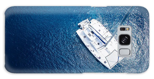Navigation Galaxy Case - Amazing View To Yacht Sailing In Open by Im photo
