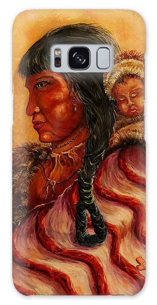 American Indian Mother And Child Galaxy Case