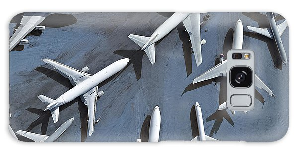 Airport Galaxy Case - An Aerial View Of Multiple Airplanes On by Azp Worldwide