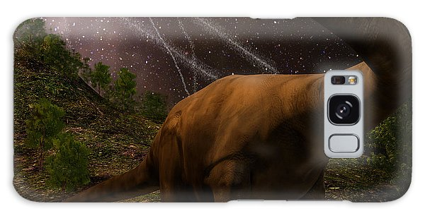 Event Galaxy Case - An Apatosaurus Looks Upon Meteors by Auntspray