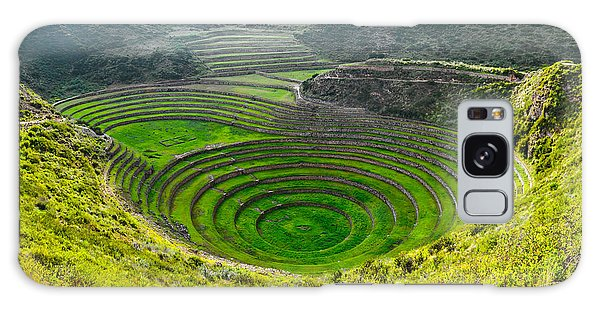 Farmland Galaxy Case - Ancient Inca Circular Terraces At Moray by Vadim Petrakov