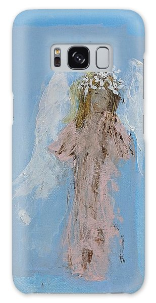 Angel With A Crown Of Daisies Galaxy Case