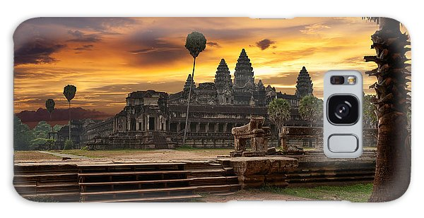 Spirituality Galaxy Case - Angkor Wat At Sunset by Muzhik