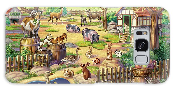 Animals At The Petting Zoo Galaxy Case