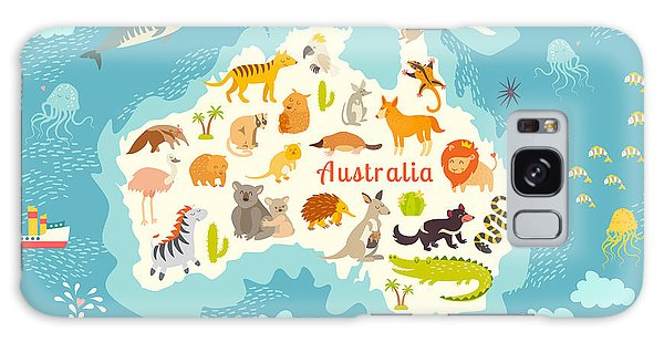 Mangrove Galaxy Case - Animals World Map, Australia by Rimma Z