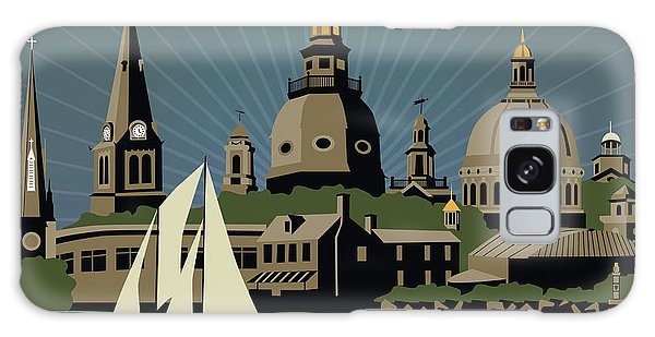 Annapolis Steeples And Cupolas Serenity With Border Galaxy Case